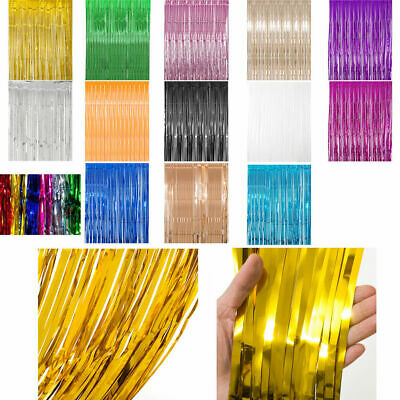 2M-3M Foil Fringe Tinsel Shimmer Curtain Door Wedding Birthday Party DECORATIONS 11