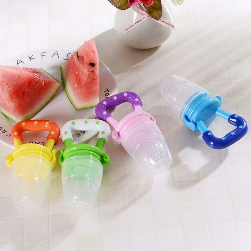Portable Baby Food Fruit Nipple Feeder Pacifier Safety Soft Silicone Feeding new 3