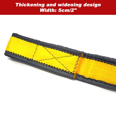 Tow Rope 8T 4x4 Heavy Duty Towing Pull Strap Road Recovery with Two Shackles 3
