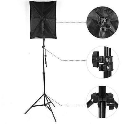 2x 135W Continuous Lighting Softbox Photography Studio Soft Box Light Stand Kit 5