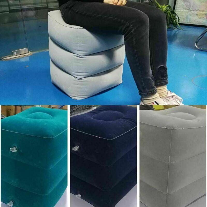 Inflatable Travel Footrest Leg Foot Rest Air Plane Pillow Pad Kids Bed PortMAEK 3