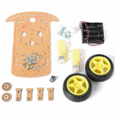 2WD Robot Smart Car Chassis DIY Kits Intelligent Engine Arduino Raspberry Pi 10