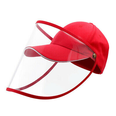 Full Face Covering Shield Anti Saliva Visor Baseball Cap Hat Protective Cover 6