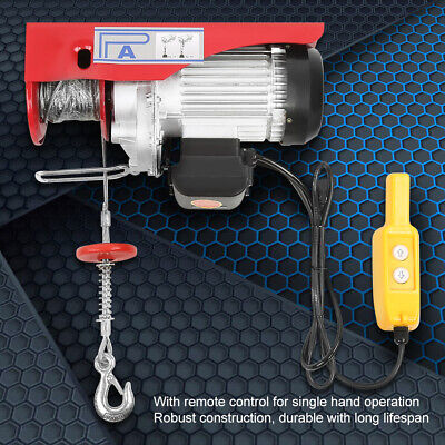 Scaffold Winch Electric Warehouse Garage Overhead Gantry Hoist Lifting Max 600KG 3