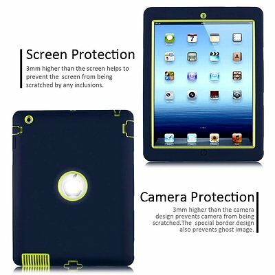 """Heavy Duty Shockproof Case Cover For New iPad 6th Gen 9.7"""" iPad 4 3 2 mini Air 7"""