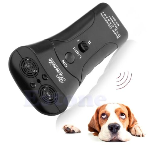 Ultrasonic Dog Chaser Stops Aggressive Animal Attacks Repeller With Flashlight 3