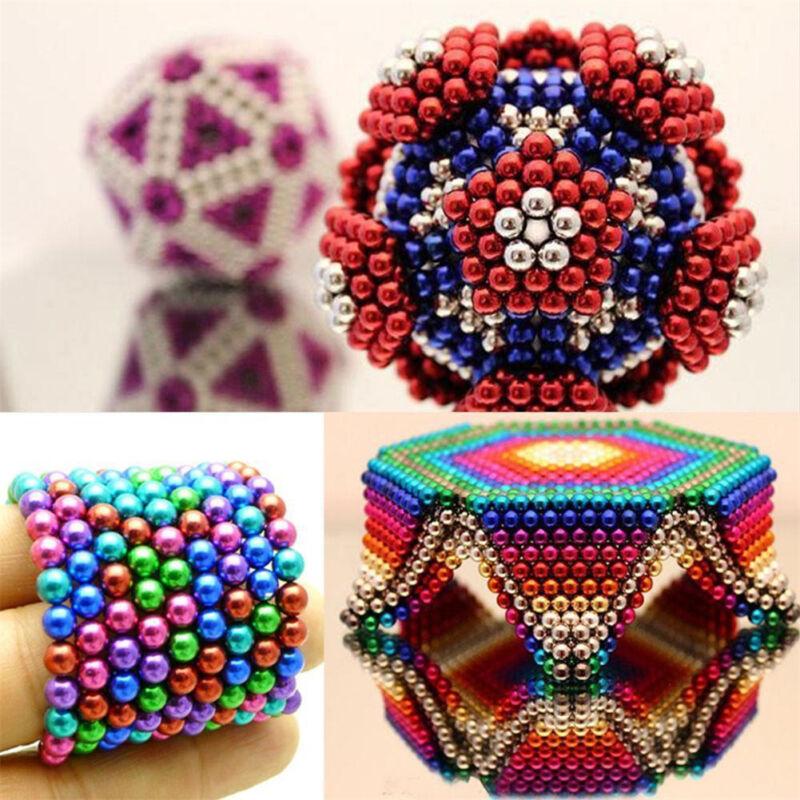 216 3/5mm Magic Magnetic DIY Balls Magnet Sphere Neodymium Beads Cube Kids Adult 7