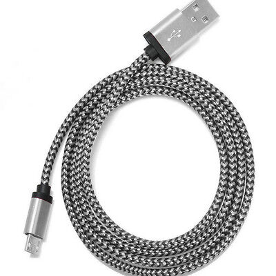 3M/10ft Long Braided Micro USB Data Charging Cable For Android Samsung Galaxy LG 3