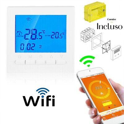 Termostato Digitale WIFI Per Caldaia A Gas Da Parete Scatola 503 omaggio CRONO 2