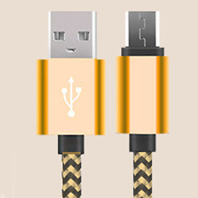 3M/10ft Long Braided Micro USB Data Charging Cable For Android Samsung Galaxy LG 6