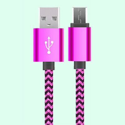 3M/10ft Long Braided Micro USB Data Charging Cable For Android Samsung Galaxy LG 5