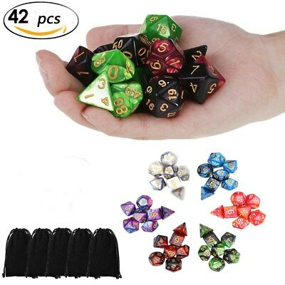 42pcs Polyhedral Dice for Dungeons and Dragons DND RPG D20 D12 D10 D8 D6 D4 Game 2