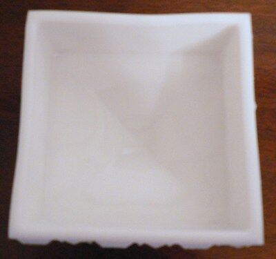 Milk Glass Footed Candy Dish By Westmoreland Old Quilt Pattern