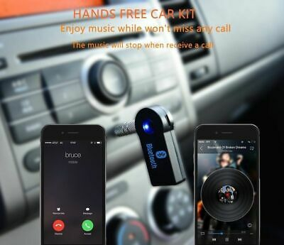 Wireless Bluetooth 3.5mm AUX Audio Stereo Music Home Car Receiver Adapter New 4