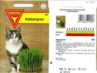 Katzengras - Vitaminreiches Grünfutter für Katzen aus Weidel & Lieschgras Samen 2