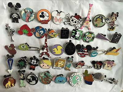Disney Pins Trading Lot of 25 No Duplicates Lapel Collector Pins Disneyland 2