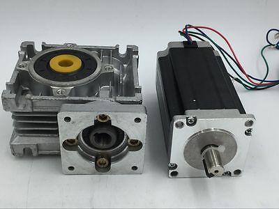 Nema23 Stepper Motor Speed Reducer CNC Worm Gearbox 7.5:1 10:1 20:1 30:1 50:1