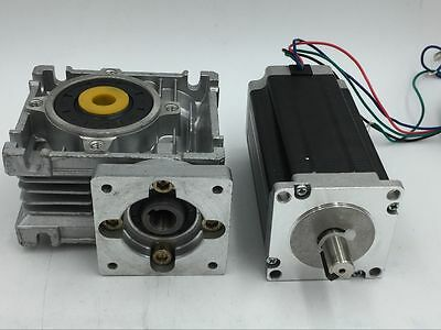 Nema23 Stepper Motor Speed Reducer with Worm Gearbox 7.5:1 10:1 20:1 30:1 50:1