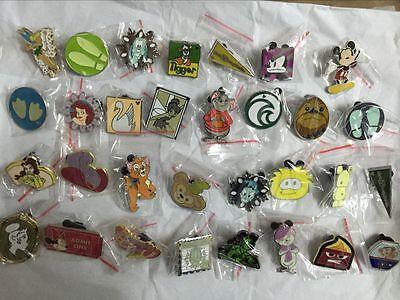 Disney Pins Trading Lot of 25 No Duplicates Lapel Collector Pins Disneyland