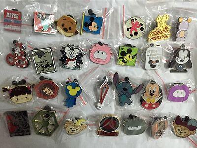 Disney Pins Trading Lot of 25 No Duplicates Lapel Collector Pins Disneyland 4