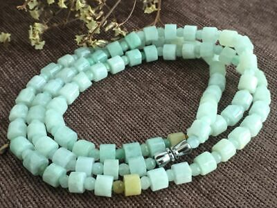 Certified Chinese-exquisite-hand-carved-jade-necklace-28inches 2037 2