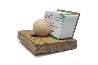 Visitenkartenhalter Aus Holz Mit Holzkugel Kartenständer