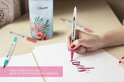 Ohuhu 60 Colors Art Markers Dual Tips Coloring Brush Pen & Fineliner Color Pens