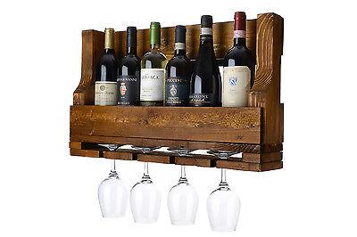 Cantinetta portavino portabottiglie da parete in legno for Porta vino fai da te