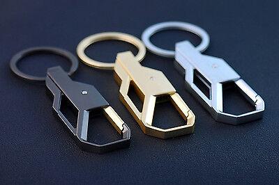 Gold Men Creative Alloy Metal Keyfob Car Keyring Keychain Key Chain Ring Gift 2