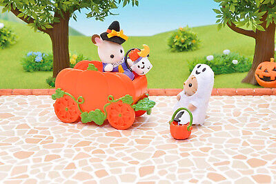 Sylvanian Families Calico Critters Halloween Baby Trick Or Treaters Set 2