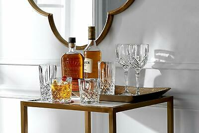 Double Old Fashioned Glasses Waterford Markham Scotch Whiskey Crystal Set of 4 6