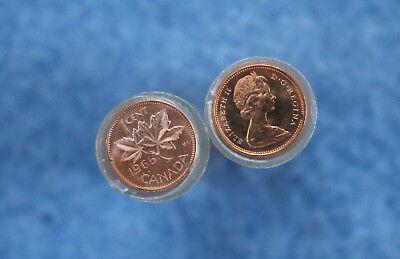 1965 Canada One Cent Original BU Roll of 50 Coins E2415 3