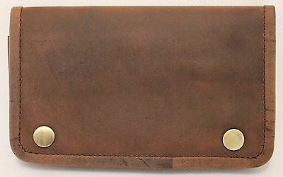 Quality Full Grain  Vintage Leather Tobacco Pouch. Style:12033. BLACK/BROWN 4