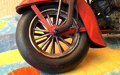 Moto De Metal Vintage Para Decoración 28 Cm 9