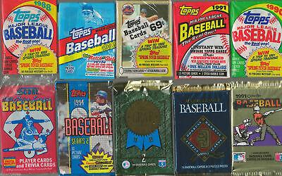 HUGE Lot of 100 Unopened Old Vintage Baseball Cards in Wax Cello Rack Packs 3