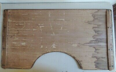 Vintage Unusual Wooden Sewing Table Collapsible Tamboured 4
