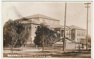 RARE Real Photo LOT of 2 - Upland CA c1912 Street Scene Stores School RPPC 3