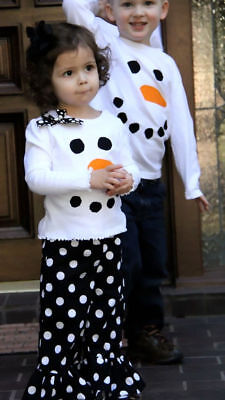 Toddler Kids Girls Christmas Snowman Olaf Tops Dot Pants Outfits Set Clothes 4