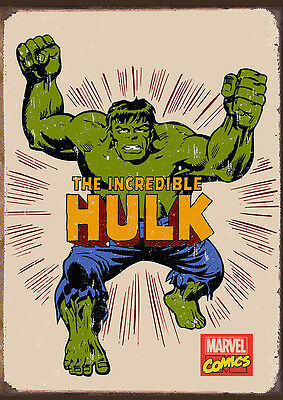 Vintage Retro Marvel Super Hero Avenger Characters Posters 9 Prints Only £16.99