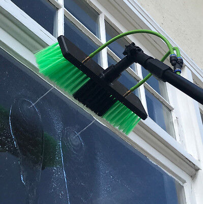 20ft Telescopic Water Fed Pole Lightweight Window Cleaning Water Sprayer Home 7
