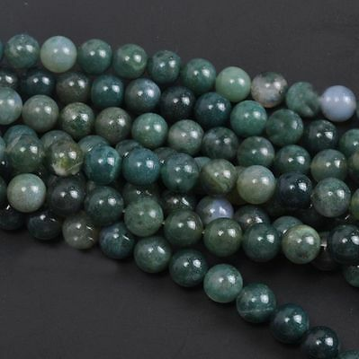 Wholesale Natural Aquatic Agate Round Gemstone Loose Spacer Beads 4/6/8/10/12mm 6