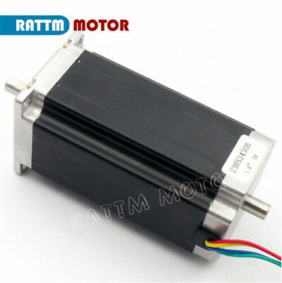 EU┃  3- Nema23 Dual shaft 425oz.in Stepper Motor 112mm 3A for CNC Router Milling 3