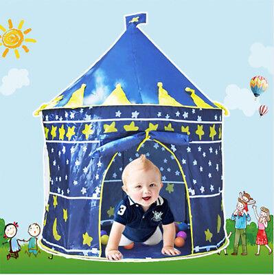 Children Kids Baby Pop Up Play Tent Boys Playhouse Indoor Outdoor Game Castle UK 3