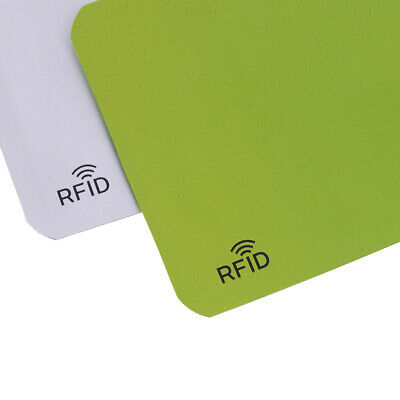 10X Credit Card Protector Secure Sleeve RFID Blocking ID Holder Foil Shield XS 5