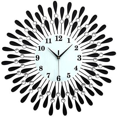 60Cm Extra Large Metal Diamond Wall Clock Big Giant Open Face Round Hangings Diy 7
