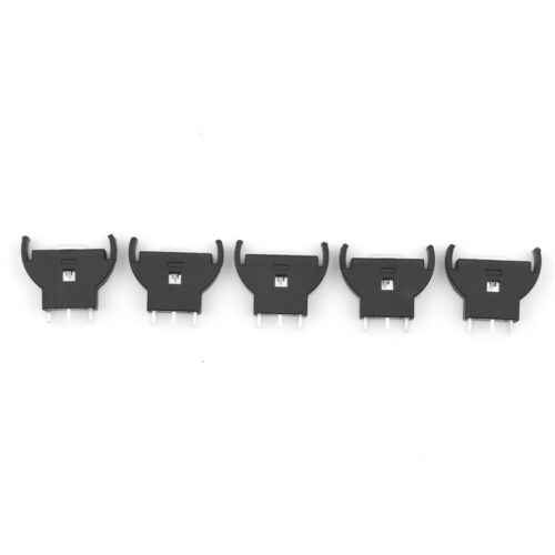 5x CR2032/CR2025 Half-Round Battery Coin Button Cell Socket Holder Case Black OS 2