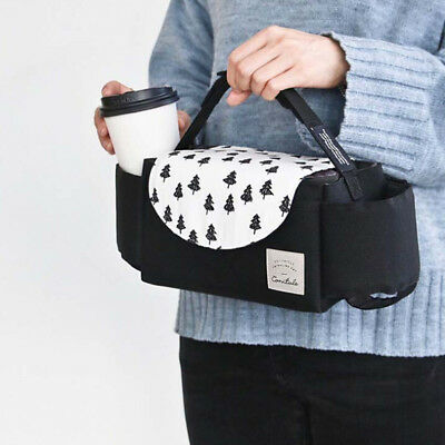 1X Universal Baby Trolley Storage Bag Stroller Cup Carriage Pram Buggy Organizer 4