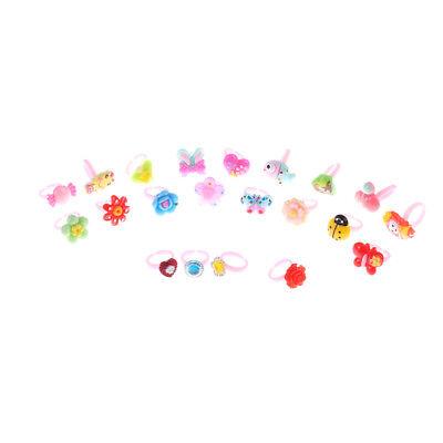10 Pcs Kids Cartoon Rings toy Plastic Children Kid Animal Flowers Finger Ring BR