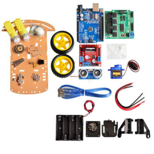 Avoidance Tracking Motor Smart Robot Car Chassis Kit 2WD Ultrasonic Arduino DP 2