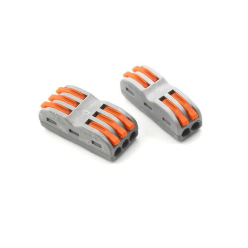 10x Elektrische Kabelklemmen Kabelschnellverbinder LampenYR.xm